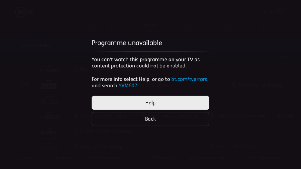 Humax Youview BT TV