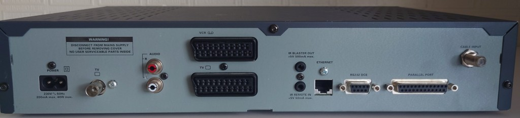 Pace Di4001 back panel