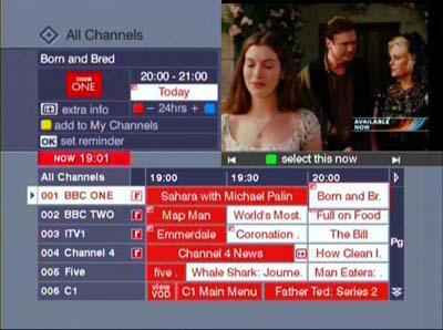 Homechoice TV Guide EPG