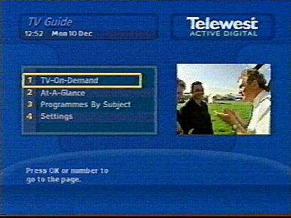 Telewest Active Digital Guide 1999