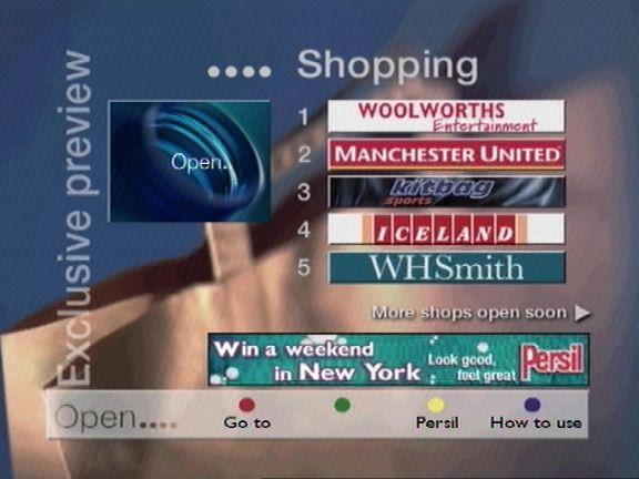 open shopping