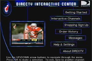 DirecTV Wink menu