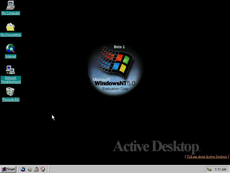 Windows NT 5 Desktop