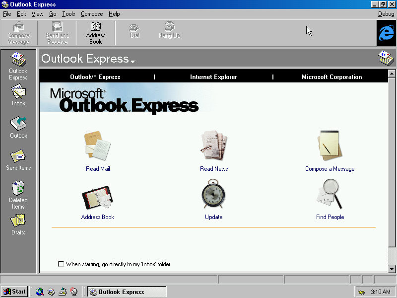 Windows NT5 Outlook Express